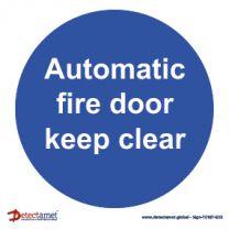 'Automatic Fire Door' Sign